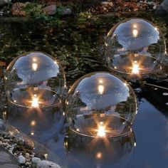 Floating garden pond lights