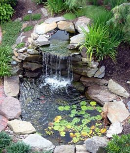 Minature Waterfall for garden pond