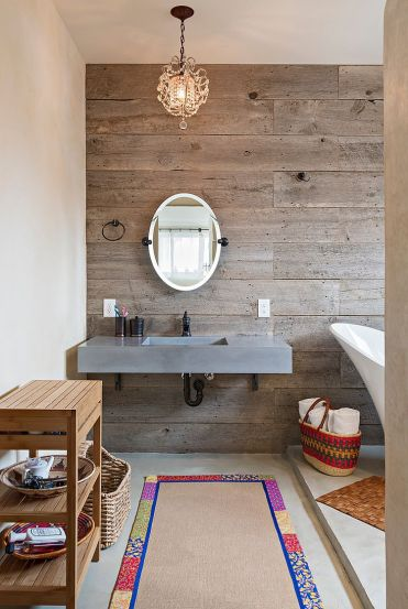 Reclaimed timber bathroom